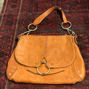 Ruehl laptop bag messenger leather
